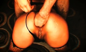 Wild Babe In Stockings Takes A Fist In Her Juicy Anal Hole