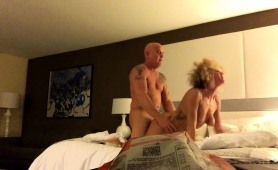 Buxom Blonde Wife Enjoys Every Thrust Of Cock In Her Pussy