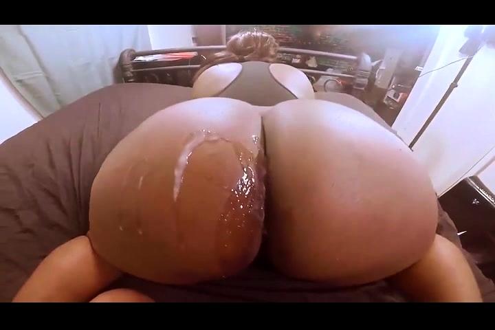 Big Black Booty Riding Dildo