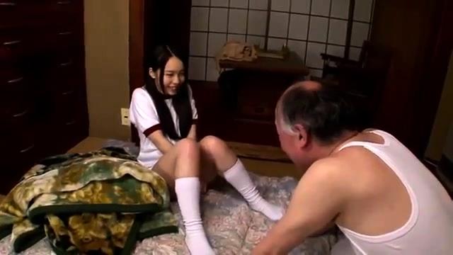 Horny Teen Seduces Old Man
