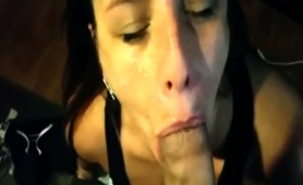 Attractive Milf Sends Her Lips Bringing A Big Cock To Orgasm