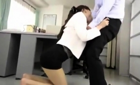 Elegant Japanese Secretary Gets Pounded Hard In The Office