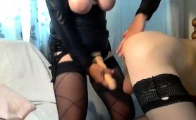busty-dominatrix-in-lingerie-punishes-her-slave-s-fiery-ass