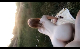 Amateur Teen Enjoys A Doggystyle Drilling In The Outdoors