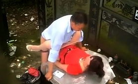 Horny Asian Wife Gets Fucked By Her Lover In The Outdoors
