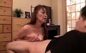 Mature Asian Wife Gives A Titjob And Takes Herself To Climax